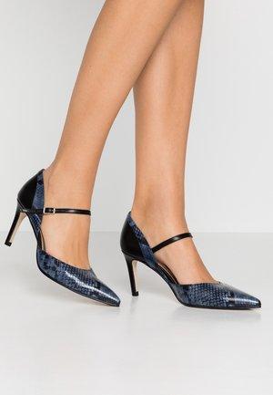 MINA - Classic heels - bluette/nero