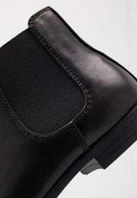 Topman - BRIAR CHELSEA - Classic ankle boots - black - 5