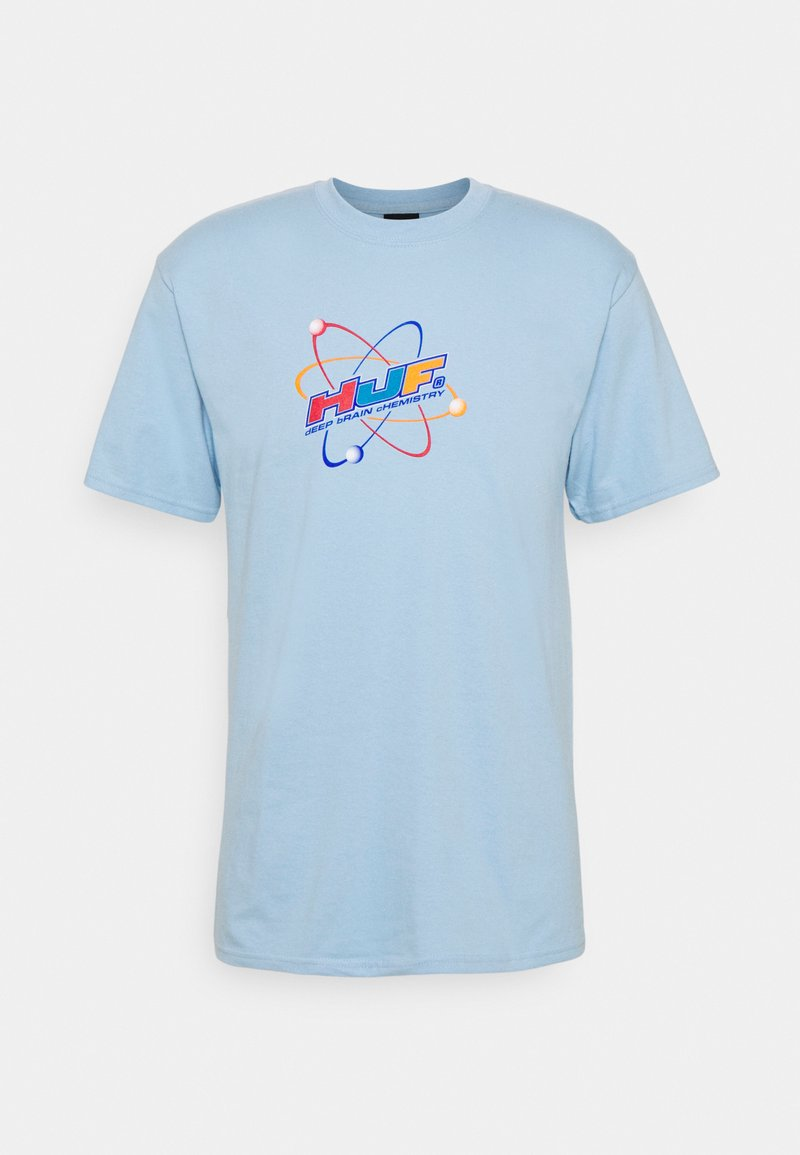 HUF - CHEMISTRY TEE - Print T-shirt - light blue