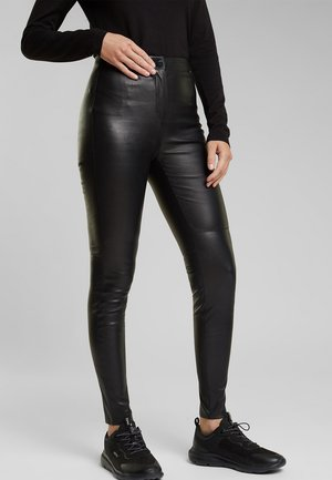 Pantalon en cuir - black