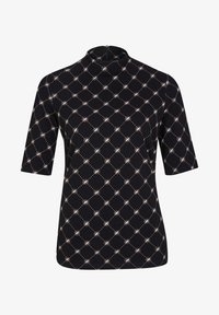 black quilted logo small