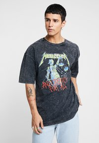 Revival Tee - METALLICA COLOR - Print T-shirt - anthracite - 0