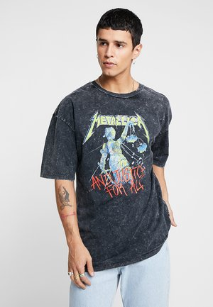 METALLICA COLOR - Print T-shirt - anthracite