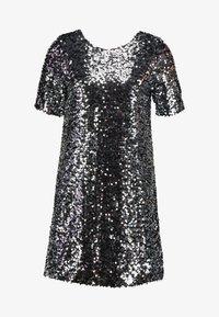 SEQUIN SHIFT DRESS - Koktejlové šaty/ šaty na párty - silver