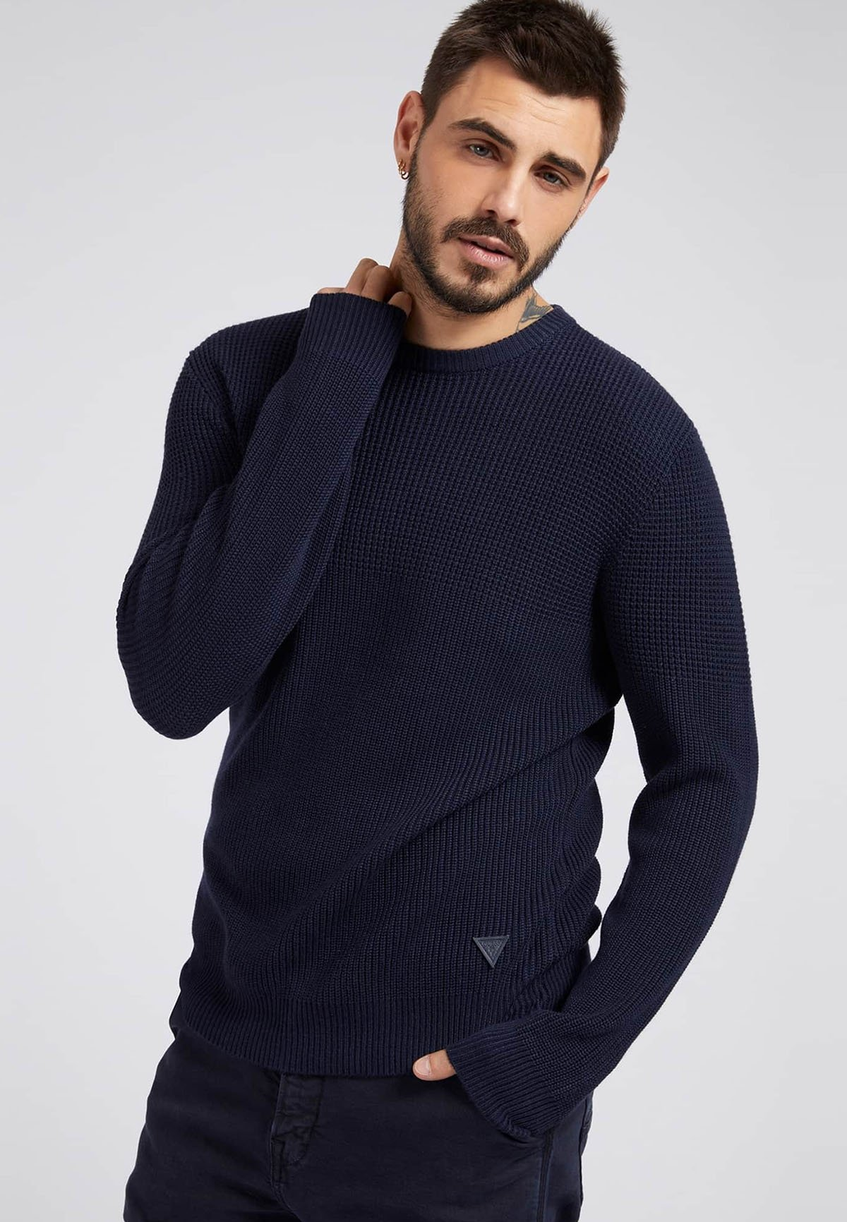 Homme RUNDHALS - Pullover