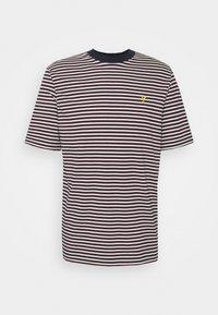 Lyle & Scott - ARCHIVE STRIPE RELAXED FIT - Print T-shirt - dark navy - 6