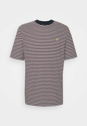 ARCHIVE STRIPE RELAXED FIT - T-shirt med print - dark navy
