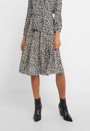 OCELOT PLEATED LEOPARD SKIRT - A-line skirt - natural multi