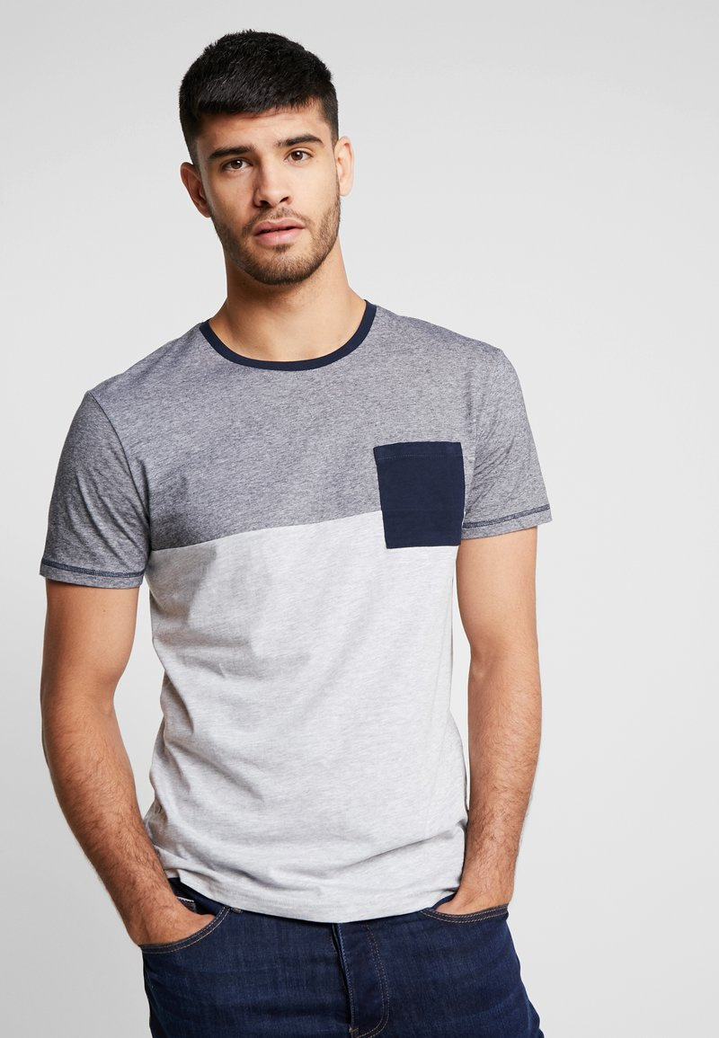 Pier One - Print T-shirt - mottled grey