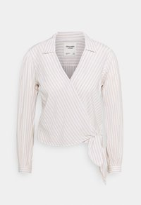 Abercrombie & Fitch - PREPPY WRAP - Blouse - green/gorunded stripe - 0
