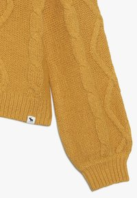 Abercrombie & Fitch - CABLE SHINE LAYER - Svetr - yellow - 2