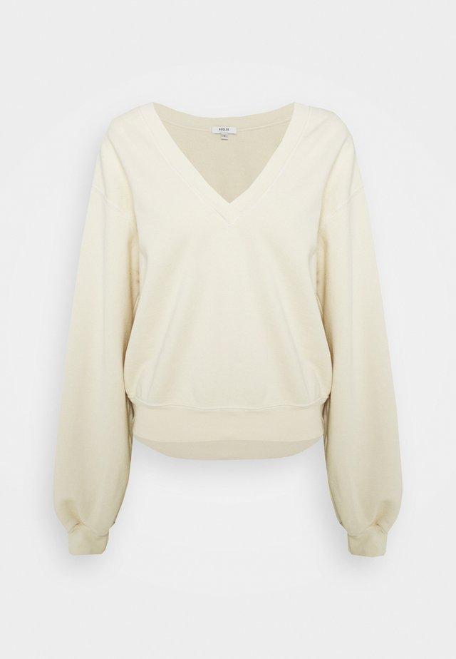 V NECK BALLOON SLEEVE - Sweatshirts - penne pale yellow