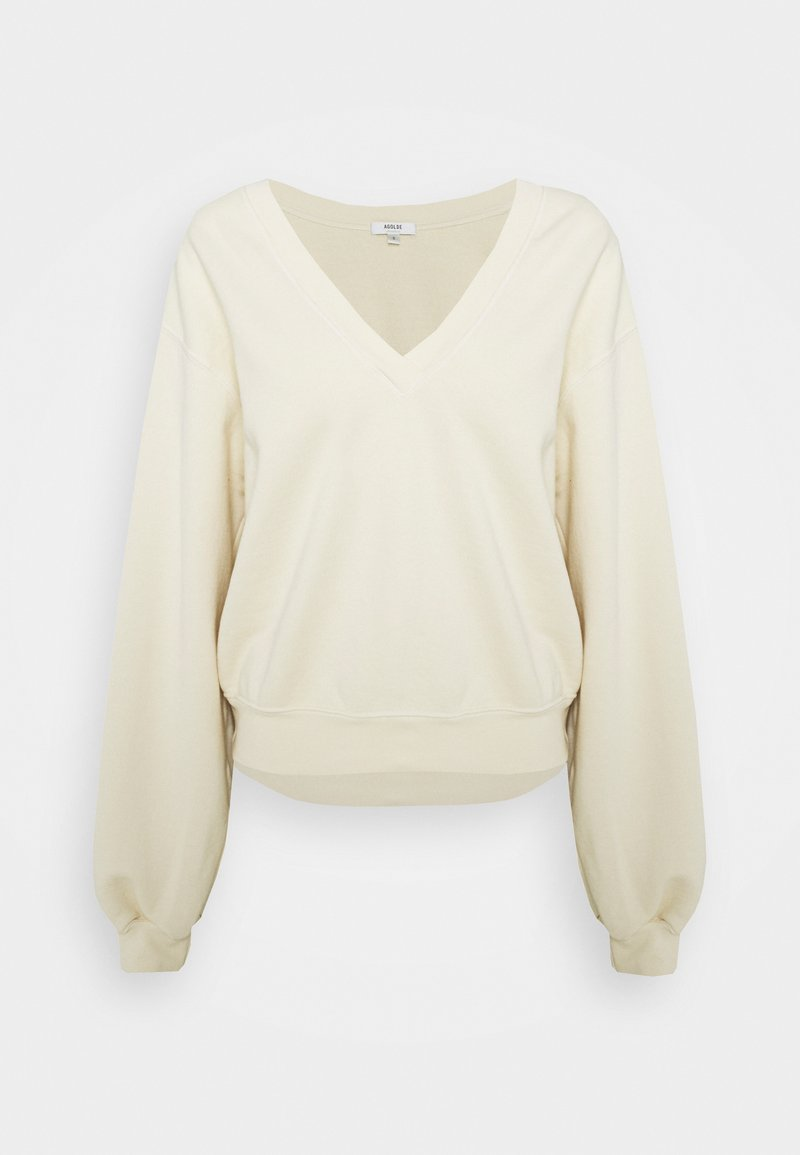 Agolde - V NECK BALLOON SLEEVE - Mikina - penne pale yellow