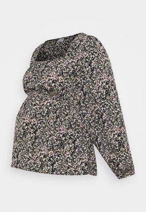 PCMKIKI TOP - Long sleeved top - black/purple