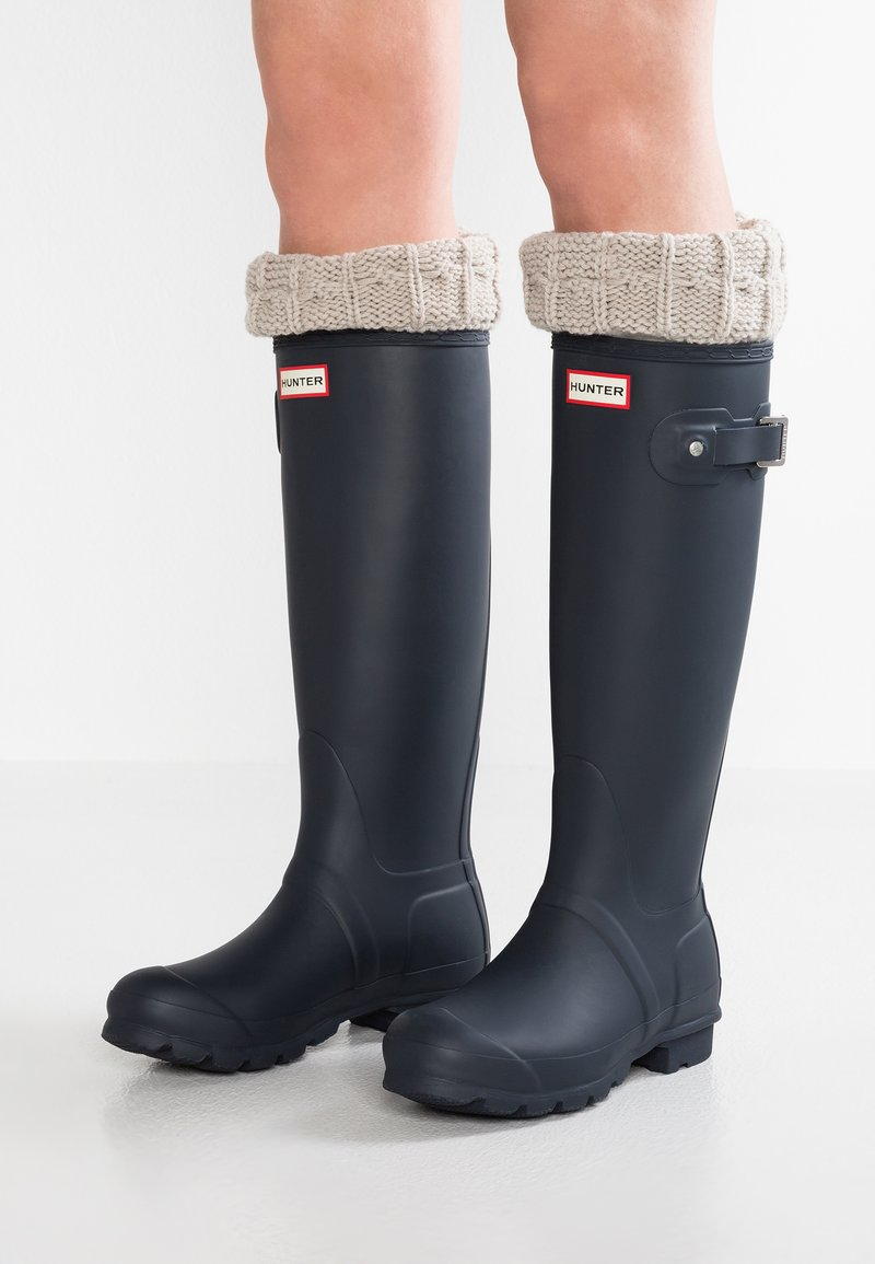 Hunter ORIGINAL - ORIGINAL TALL VEGAN - Wellies - Kalosze - navy