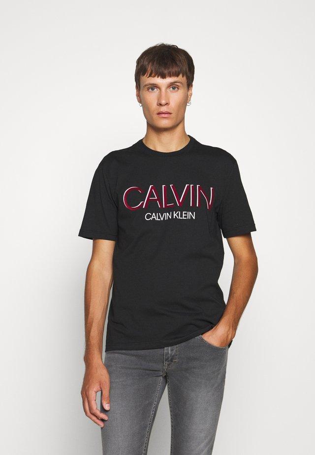 SHADOW LOGO - T-shirt imprimé - black