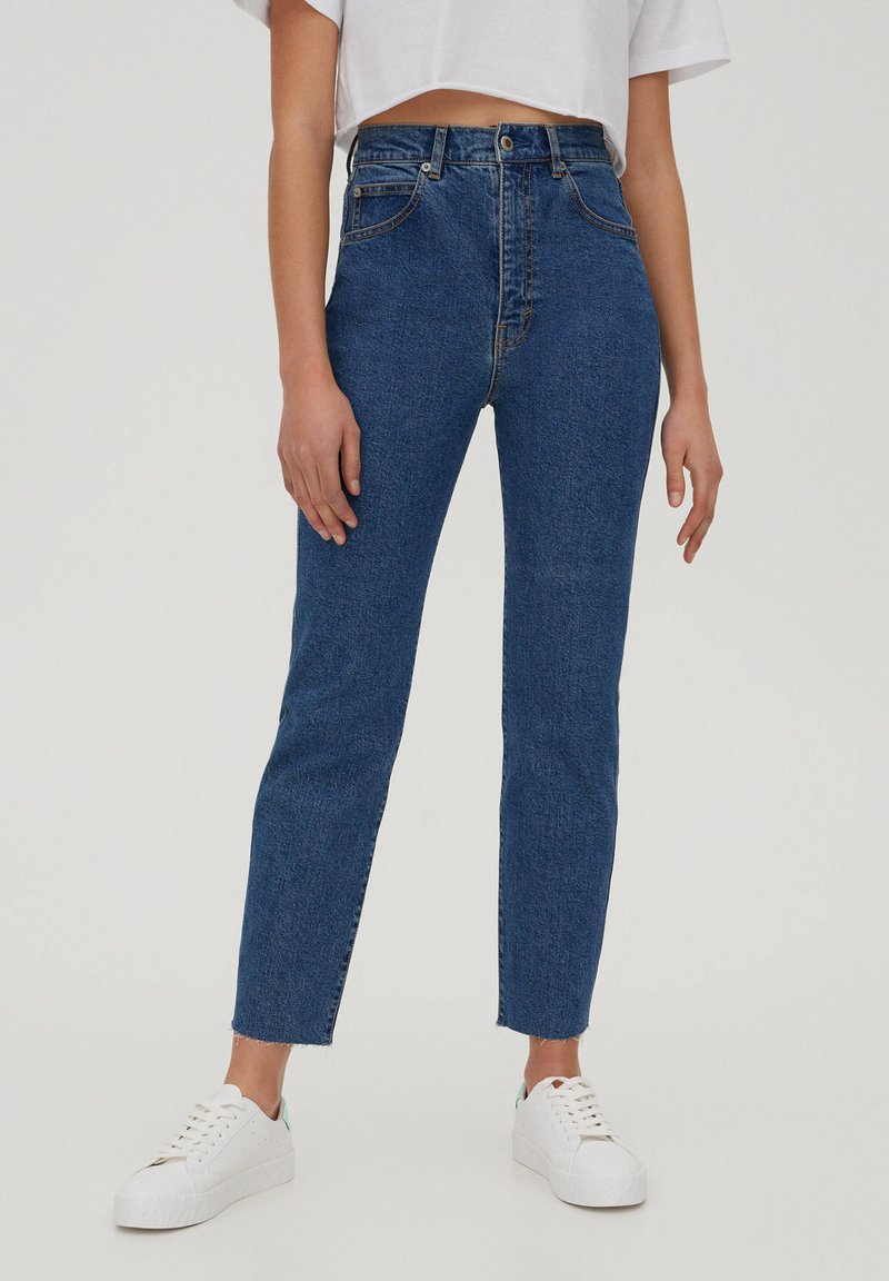 PULL&BEAR - SLIM MOM - Jeans slim fit - dark blue