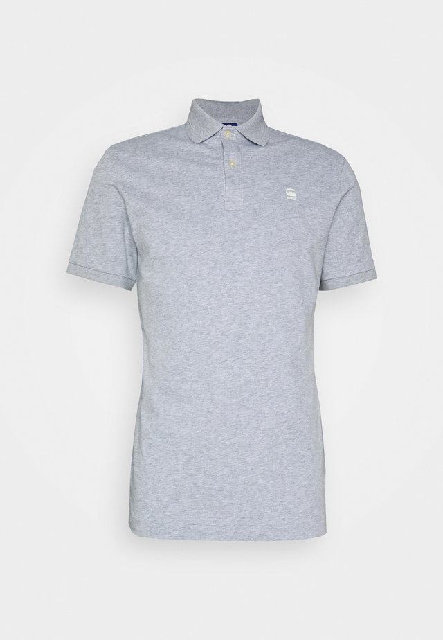 DUNDA SLIM - Polo - grey heather