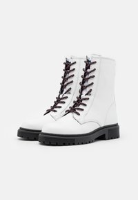 Tommy Jeans - DOUBLE DETAIL LACE UP BOOT - Snørestøvletter - white - 2