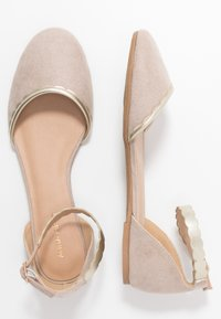 Anna Field - Ankle strap ballet pumps - nude - 3