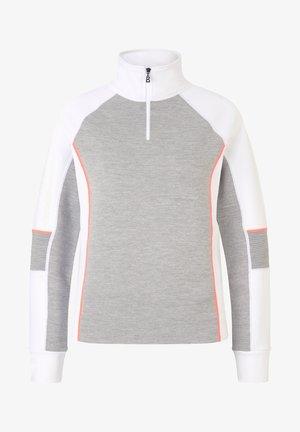 BABETTE - Sweatshirt - hellgrau/weiß