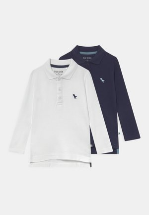 KIDS BOYS 2 PACK - Poloshirt - weiss/nachtblau
