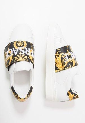FLASH BAMBINO - Sneakers basse - bianco/nero/oro