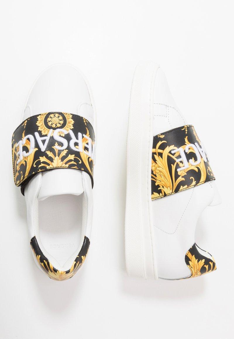 Versace - FLASH BAMBINO - Sneakers basse - bianco/nero/oro