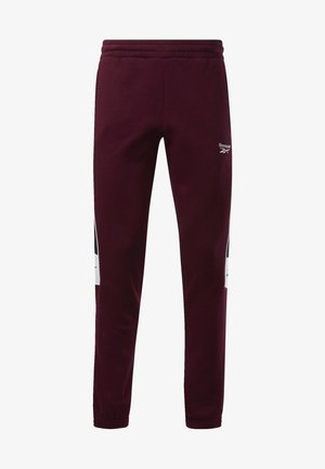 CLASSICS LINEAR JOGGERS - Tracksuit bottoms - burgundy