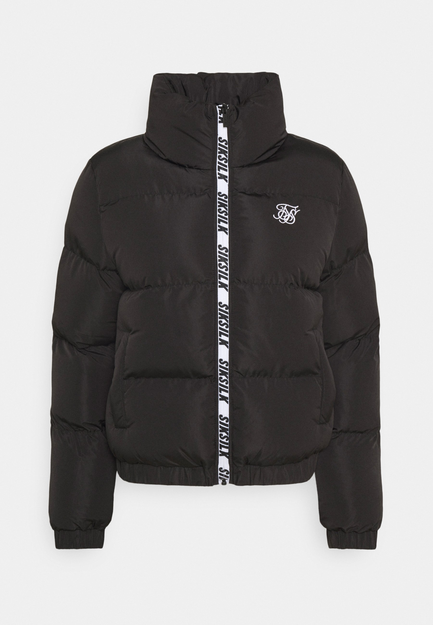 Women PRINTED TAPE PADDED CROP JACKET - Winter jacket