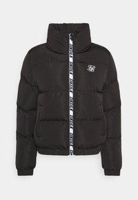 SIKSILK - PRINTED TAPE PADDED CROP JACKET - Winter jacket - black - 0