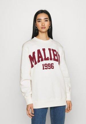 MALIBU College Print Oversized long sweatshirt - Mikina - off white