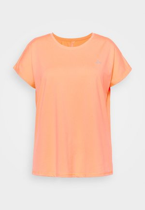 ONPAUBREE LOOSE TEE CURVY - T-shirts - neon orange