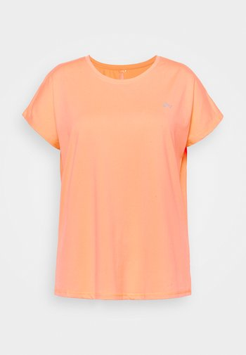 ONPAUBREE LOOSE TEE CURVY - Basic T-shirt - neon orange