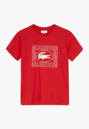 TEE - T-shirt med print - rouge