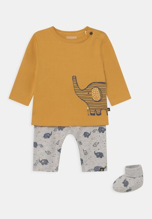 SET - Tracksuit - yellow/mottled grey