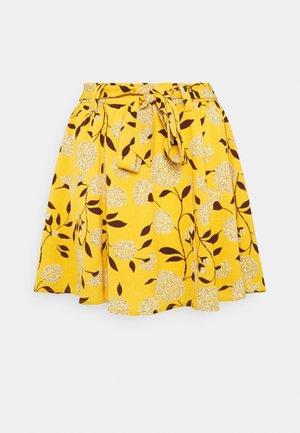 ONLNOVA LUX JASMIN SKIRT - A-line skirt - golden yellow/white