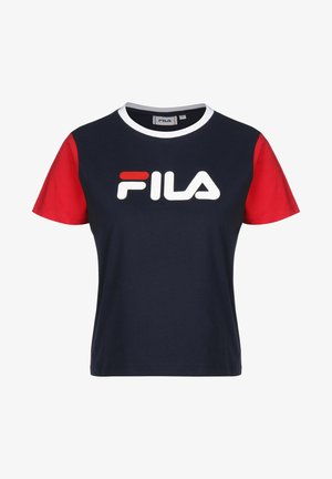 T-SHIRT SALOME - T-shirt imprimé - black iris/true red/bright wh