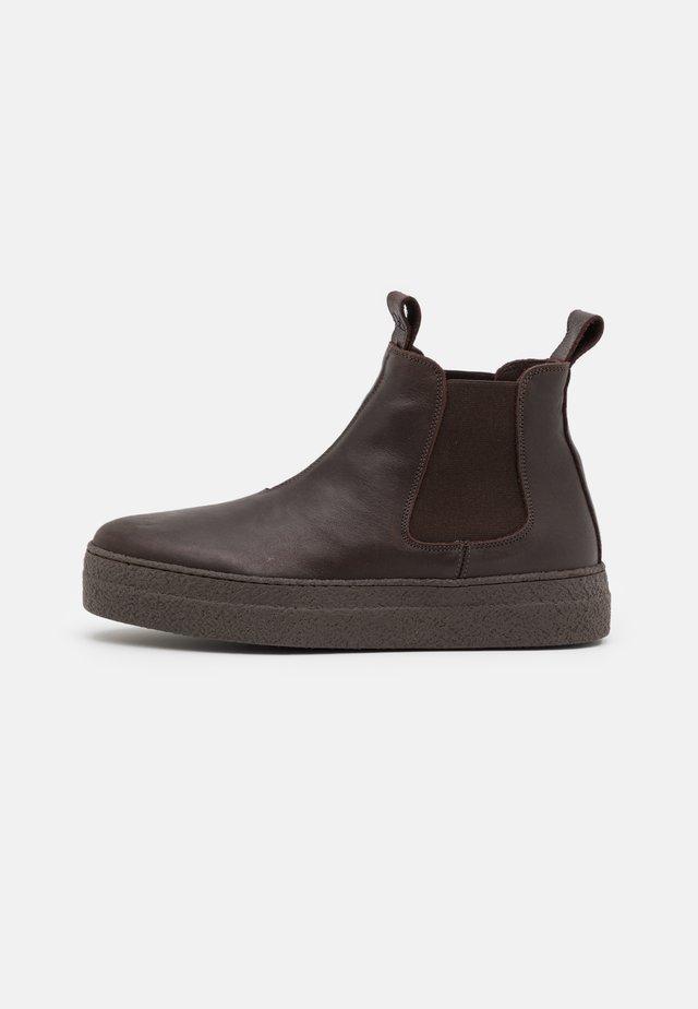 Platform ankle boots - ebano