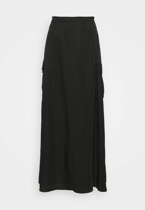 LIFT OFF SKIRT - Maxi skirt - black