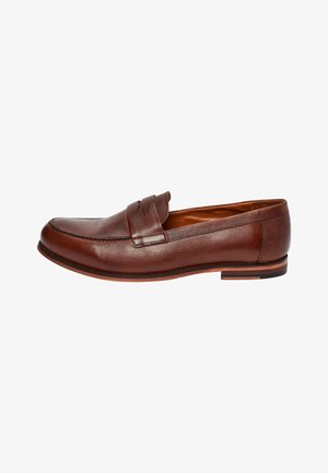 BLACK MODERN HERITAGE LEATHER LOAFERS - Scarpe senza lacci - brown