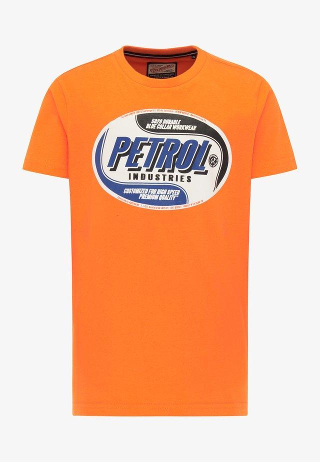 T-shirt con stampa - spiced orange