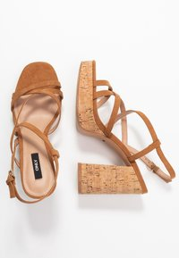 ONLY SHOES - ONLAERIN  - High heeled sandals - cognac - 3