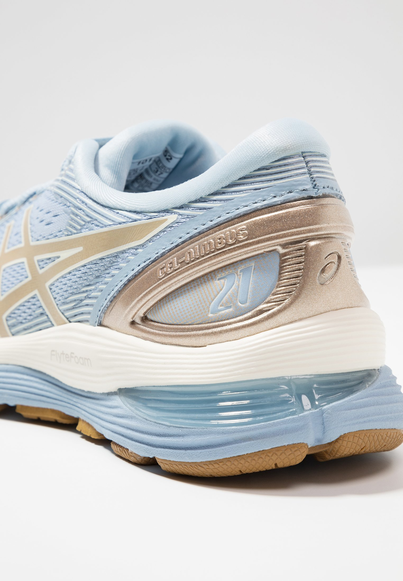 GEL NIMBUS 21 - Zapatillas de running neutras - mist/frosted almond