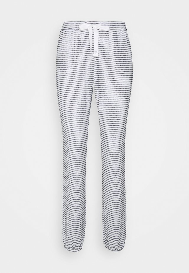 PANT BRUSHED JERSEY STRIPE - Pyjama bottoms - dark denim