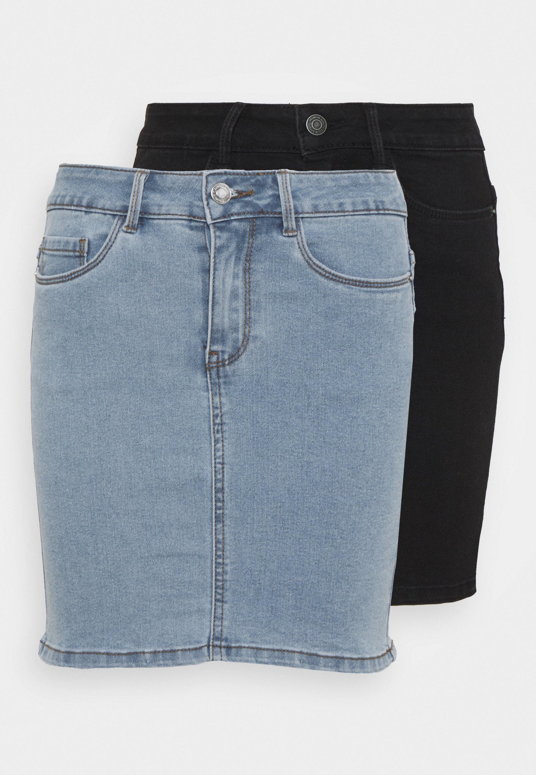 Femme VMHOT SEVEN SKIRT 2 PACK - Minijupe