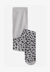 grau - grey blend flocked spotted patterned