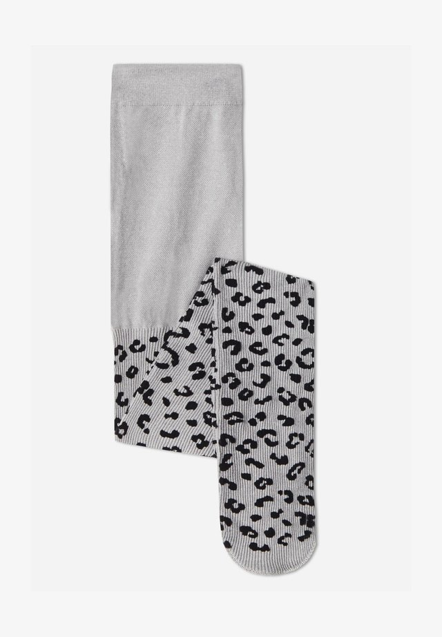 Tights - grau - grey blend flocked spotted patterned