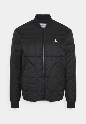 QUILTED LINER JACKET - Bomberjacke - black