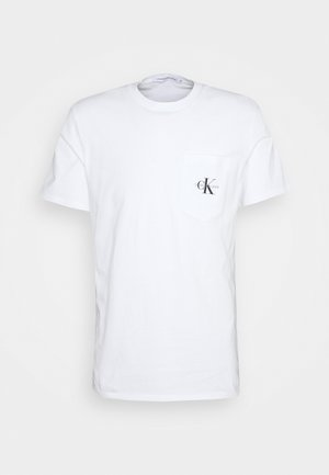 MONOGRAM POCKET TEE - T-shirt med print - bright white